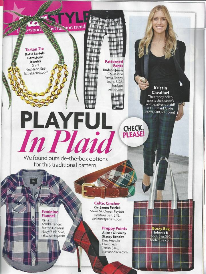Star Magazine features the Shira necklace