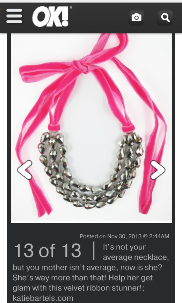 OK Magazine features the Shira necklace