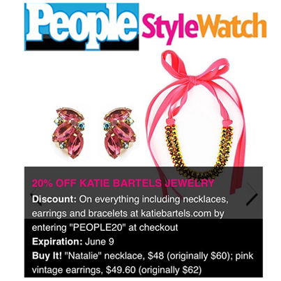People StyleWatch does an exclusive giveaway