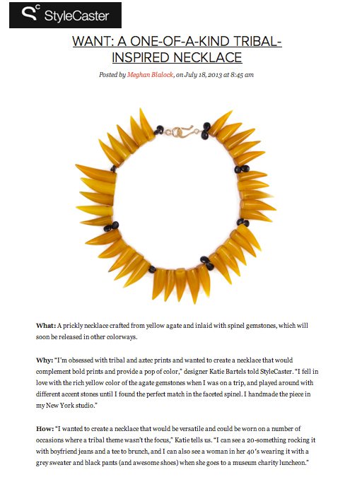 StyleCaster features the Alex necklace