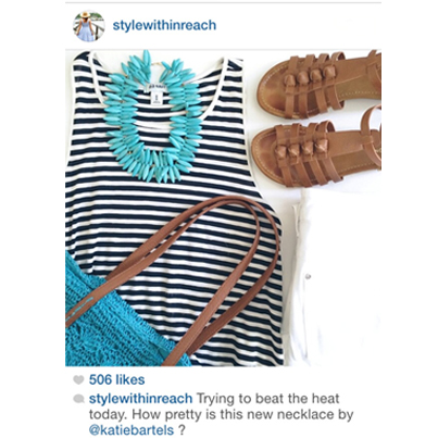 Style Within Reach features the Blake necklace